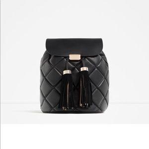 Zara Quilted Tassel Backpack